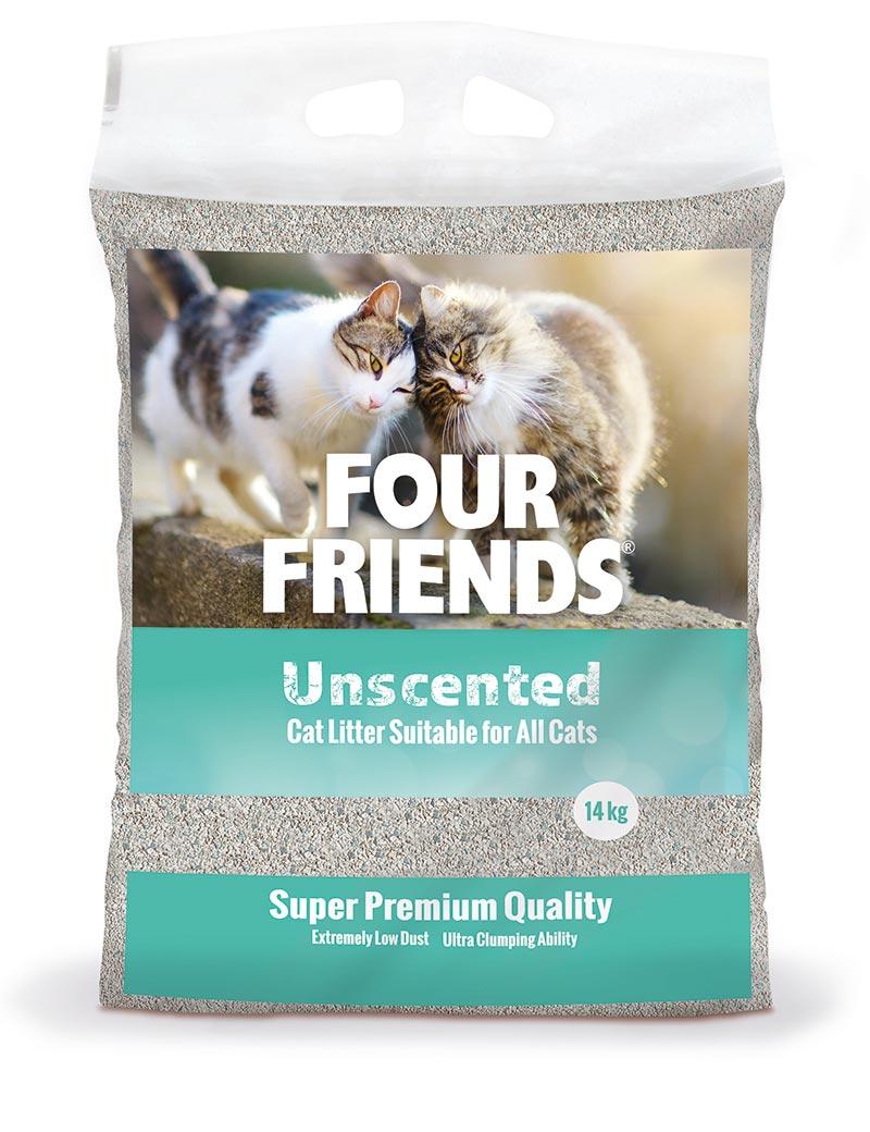 Kattsand Four Friends oparfymerad