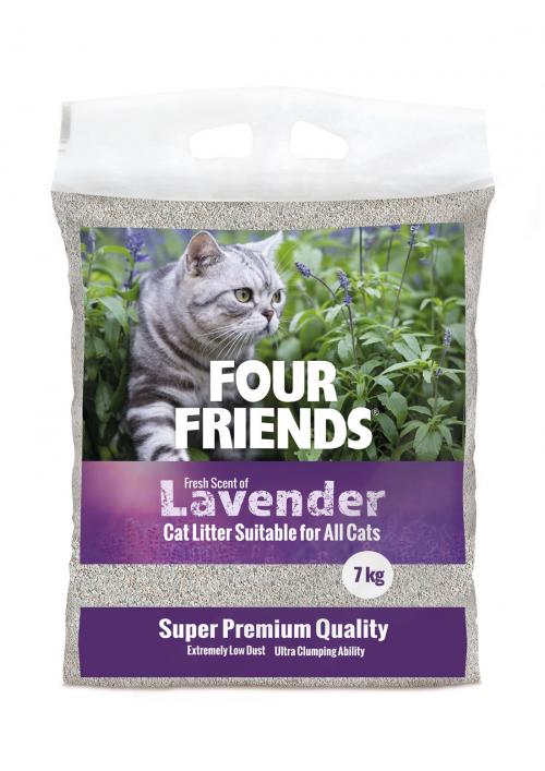 FourFriends kattsand Lavender 7 kg
