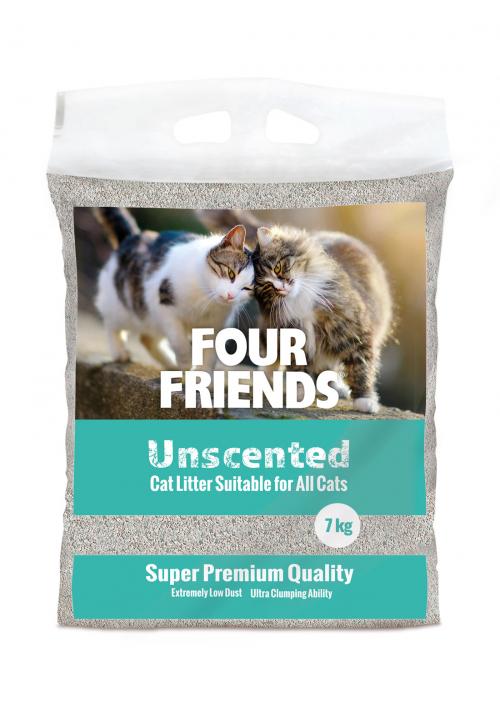 FourFriends kattsand oparfymerad 7 kg