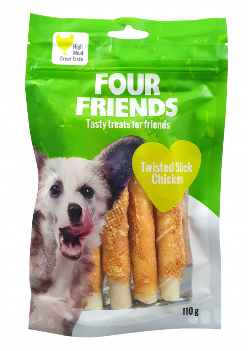 FourFriends twisted stick Chicken 110g