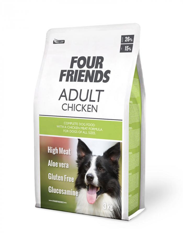 FourFriends hundmat Adult Chicken 3 kg