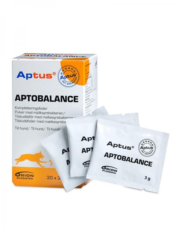 Aptus Aptobalance. Kosttillskott med mjölksyrebakterier för hund.
