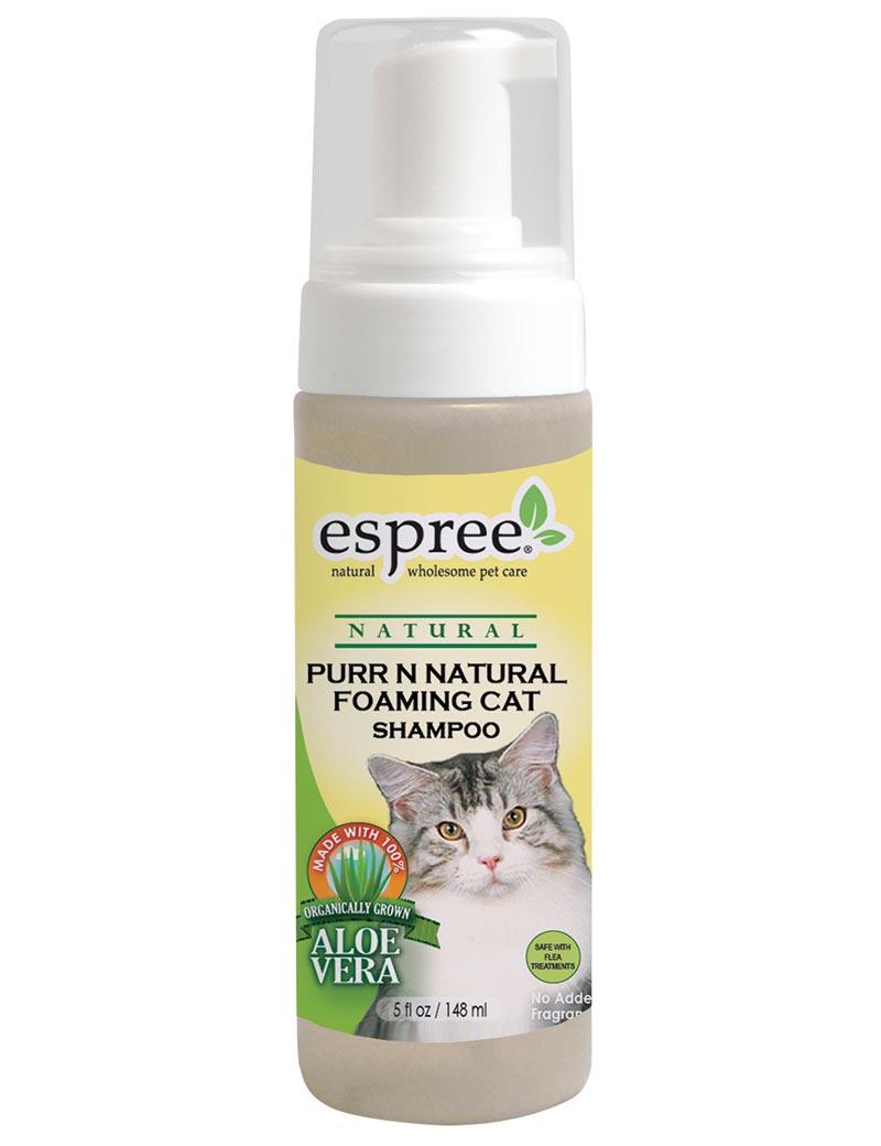 espree purr natural cat foaming shampoo