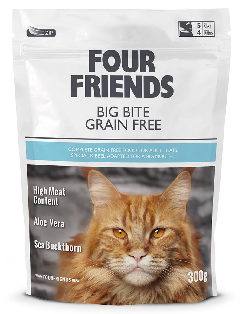 four friends kattmat big bite 300g