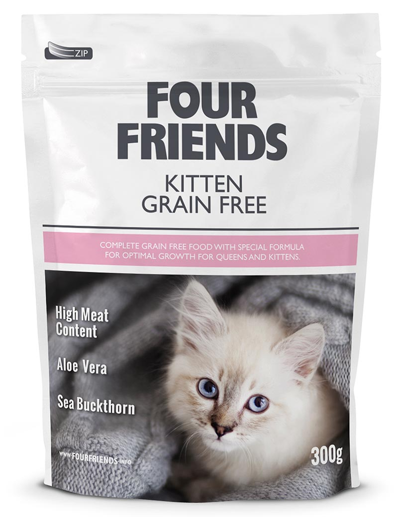 four friends kattmat kitten 300g