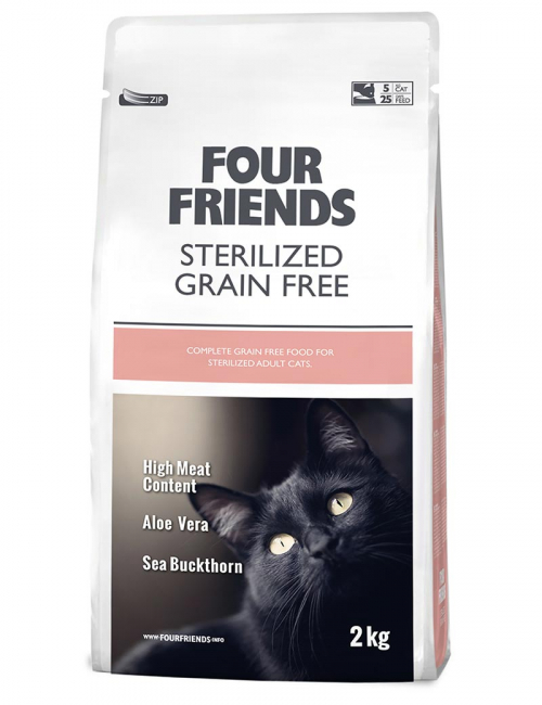 four friends kattmat sterilized 2 kg