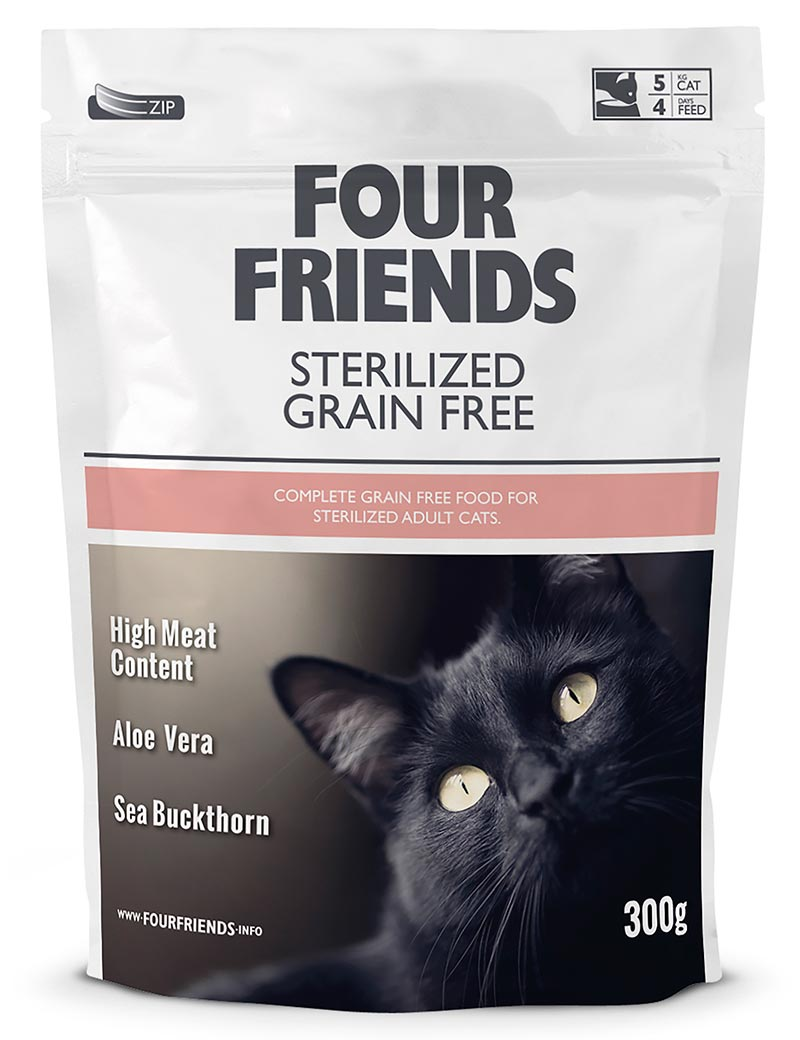 four friends kattmat adult 300g