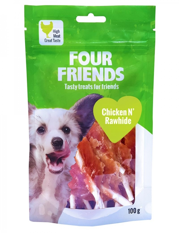 four friends tugg kyckling rawhide 100g