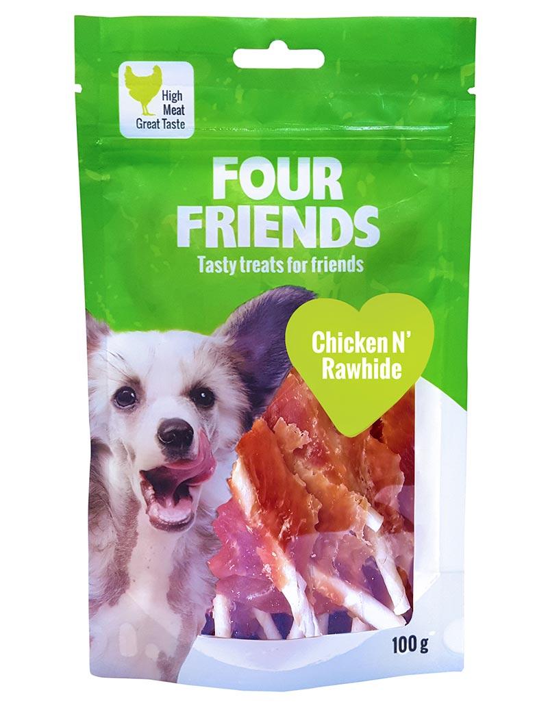 four friends tugg kyckling rawhide 100g