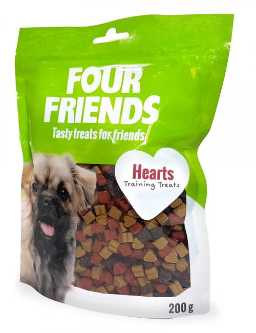 four friends hearts träningsgodis belöning 200 g