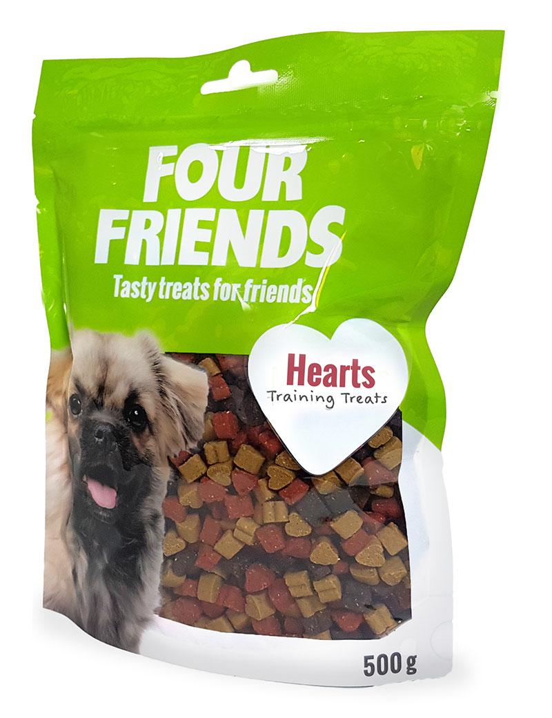 four friends hearts träningsgodis belöning 500g