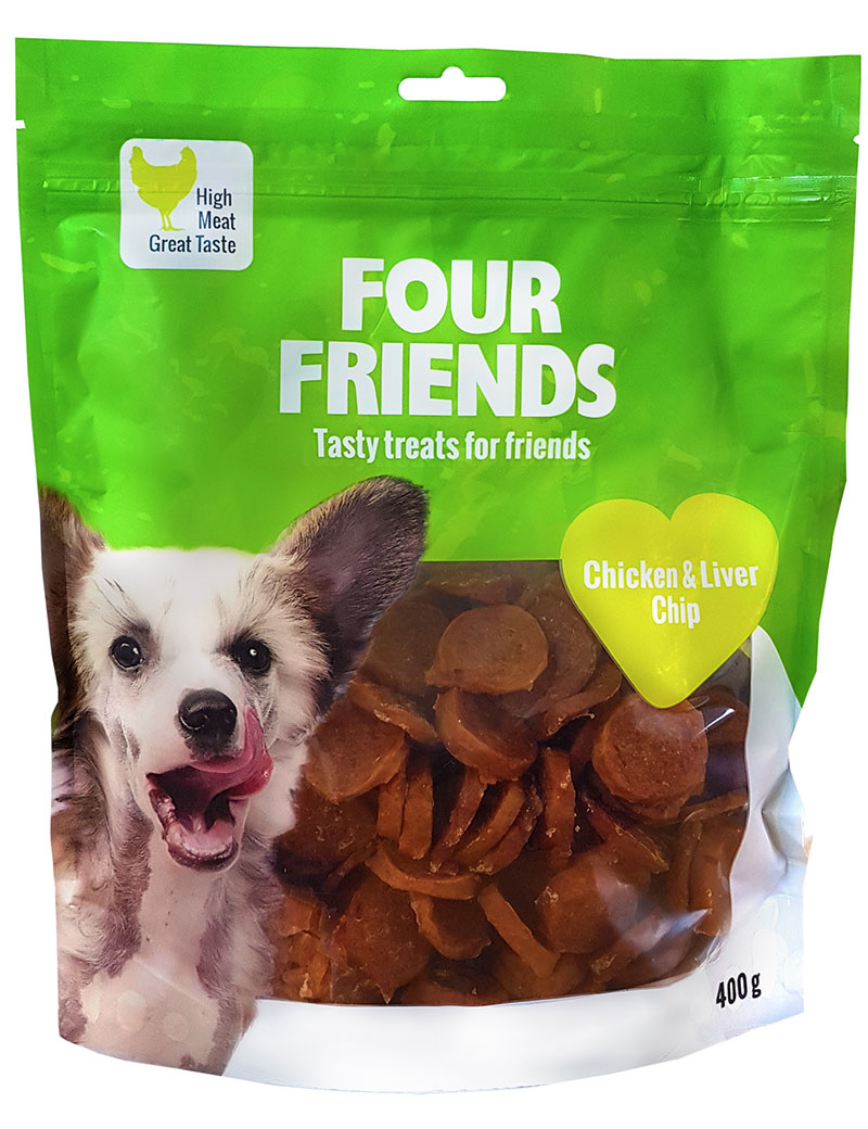 four friends kyckling lever chip 400g