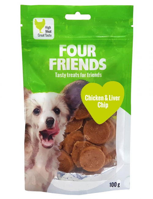 four friends godis kyckling chip 100g