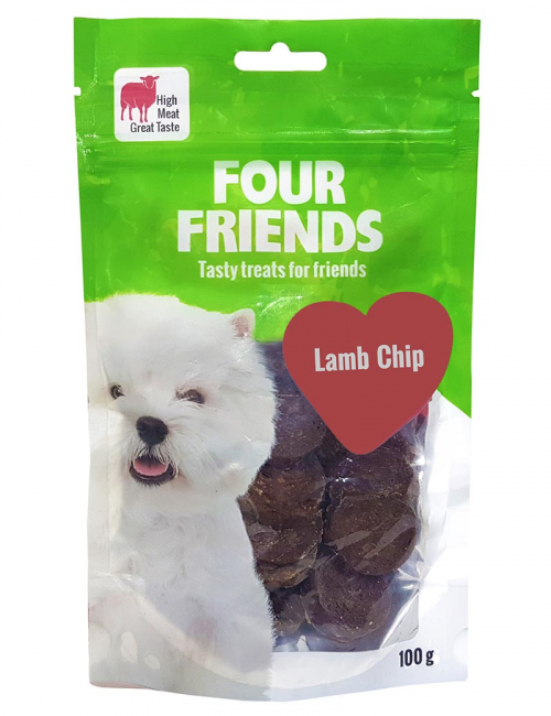 four friends godis lamm chip 100g