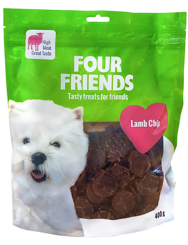 four friends godis lamm chip 400g