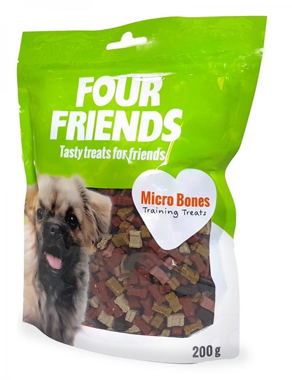 four friends micro bones träningsgodis belöning 200g