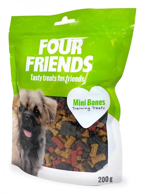 four friends mini bones träningsgodis belöning 200g