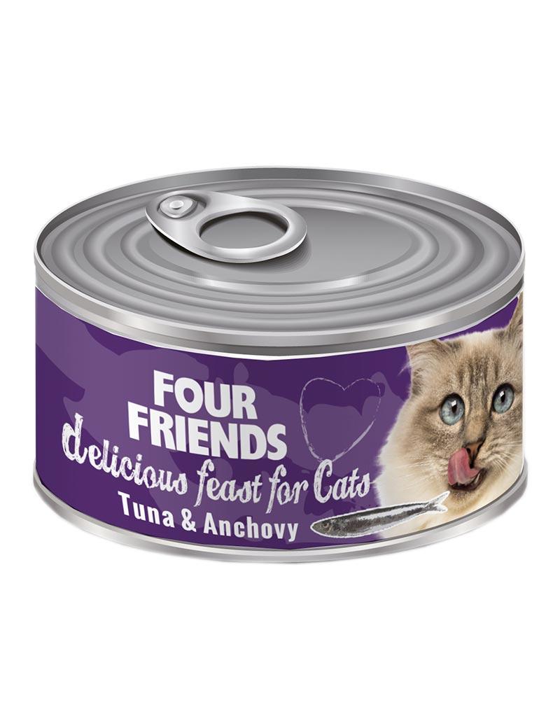 four friends kattmat tonfisk anjovis