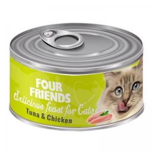 four friends kattmat tonfisk kyckling