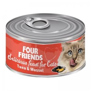 four friends kattmat tonfisk musslor