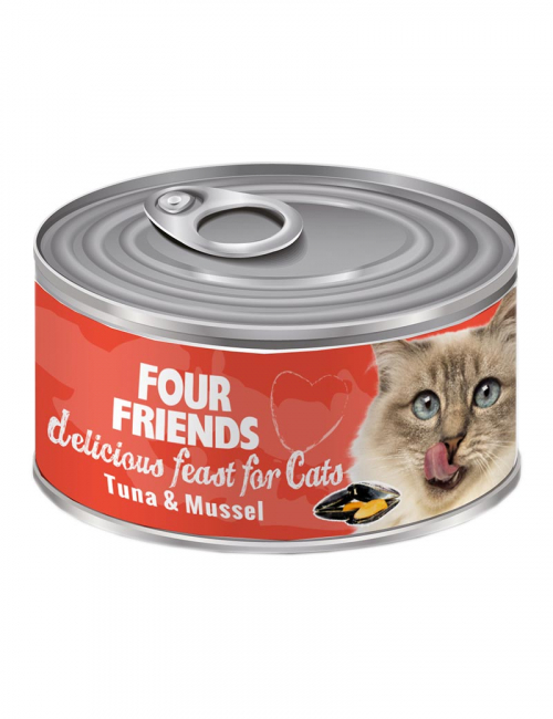 four friends kattmat tonfisk musslor