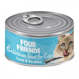 four friends kattmat tonfisk sardiner