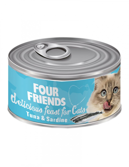 four friends kattmat tonfisk sardiner