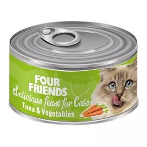 four friends kattmat tonfisk grönsaker