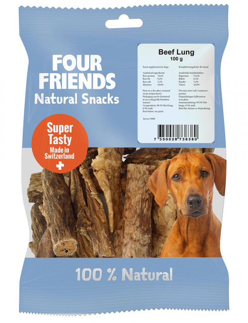four friends naturgodis beef lung 100g
