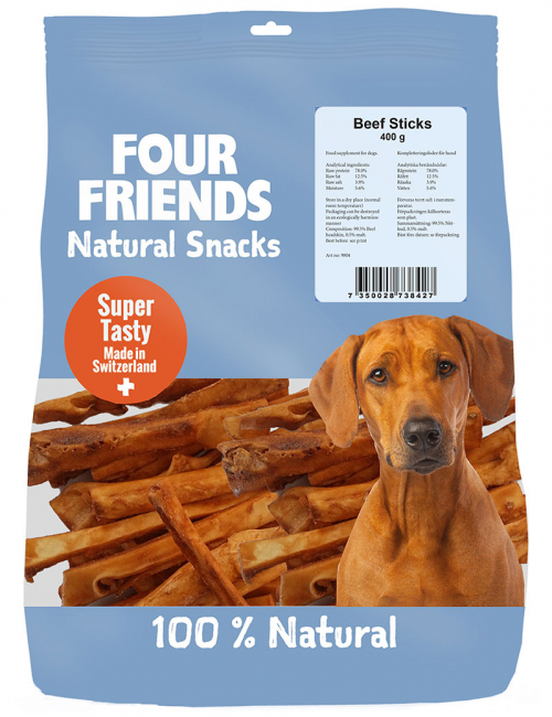 four friends naturgodis beef sticks 400g