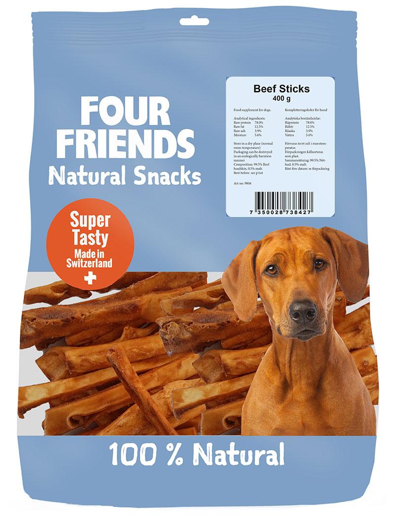 four friends naturgodis beef sticks 400g