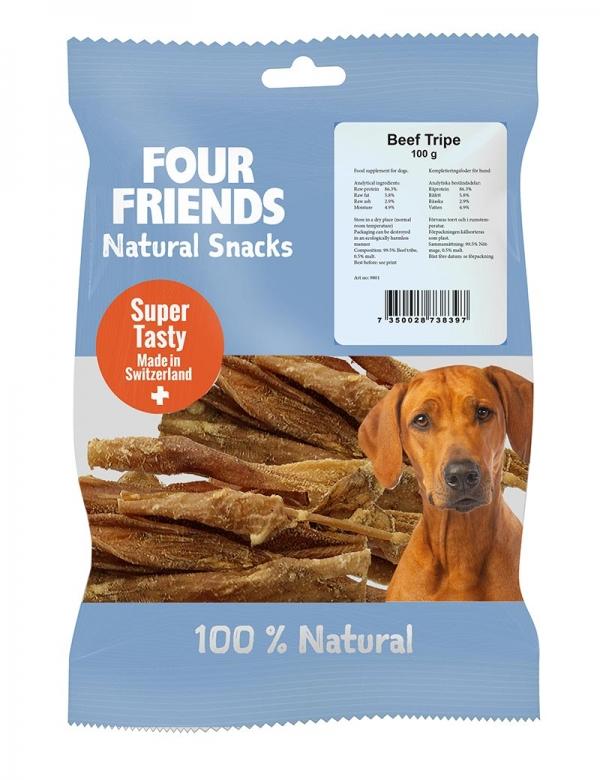 four friends naturgodis beef tripe 100g