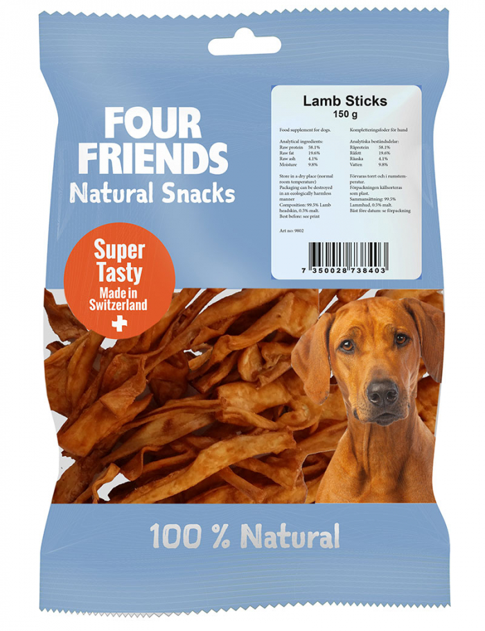 four friends naturtugg lamb sticks