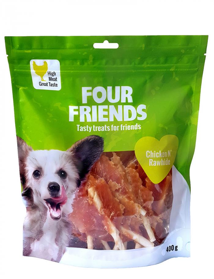 four friends tugg kyckling rawhide 400g