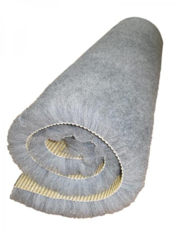 grå fäll gummerad baksida