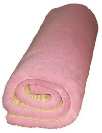 rosa fäll gummerad