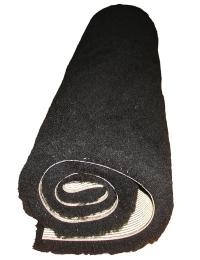 svart fäll gummerad