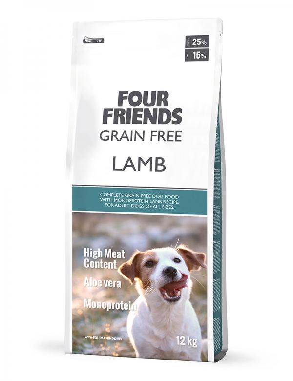 four friends hundmat grain free lamb 12 kg