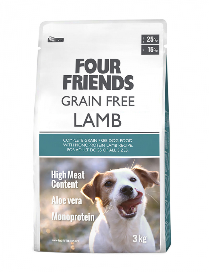 four friends hundmat grain free lamb 3 kg