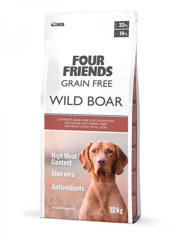four friends wild boar 12 kg hundmat