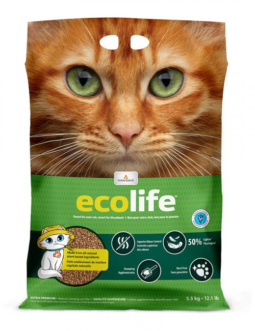intersand ecolife kattströ 5,5kg naturligt