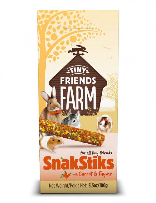tiny friends snakstiks carrot thyme smådjursgodis