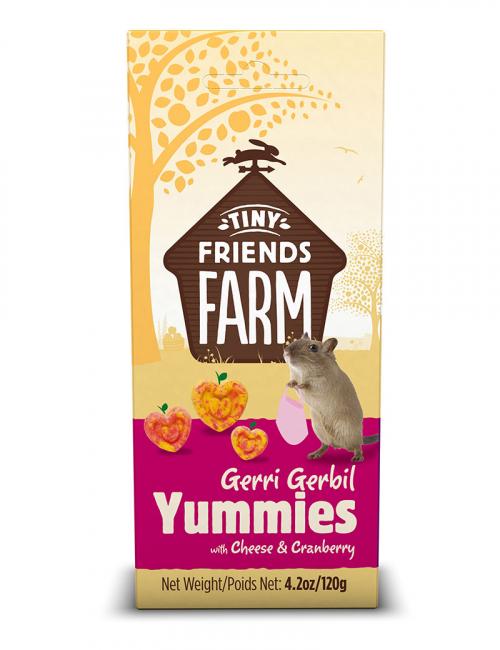 tiny friends yummies cheese cranberry smådjursgodis