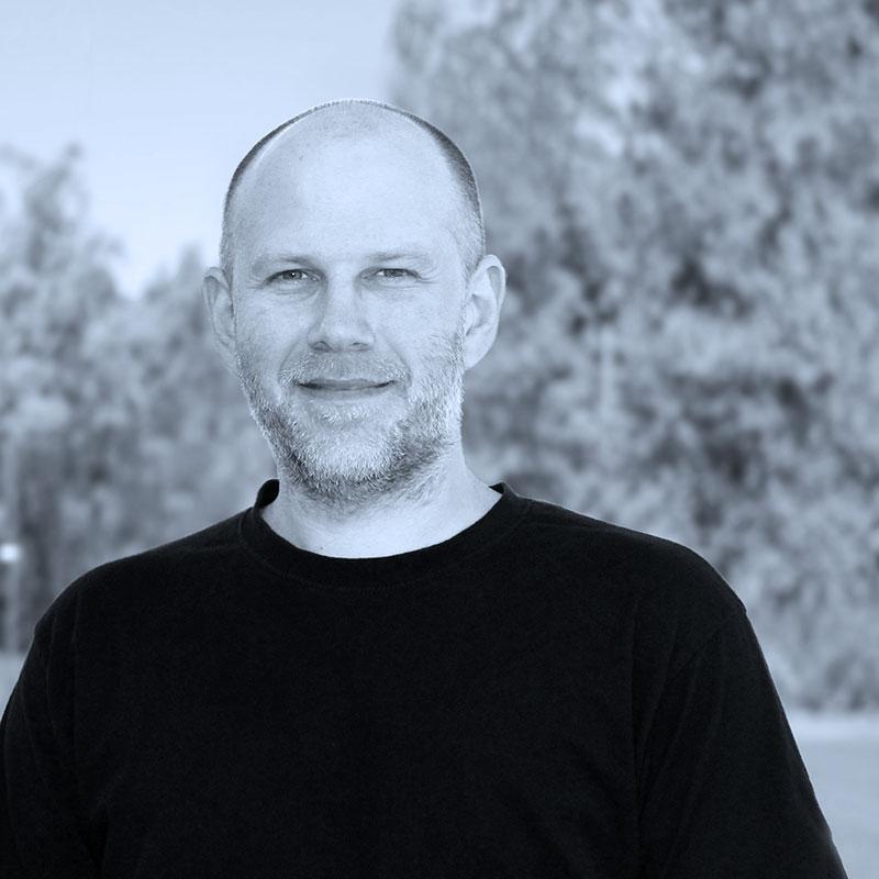 Personporträtt av Mathias.