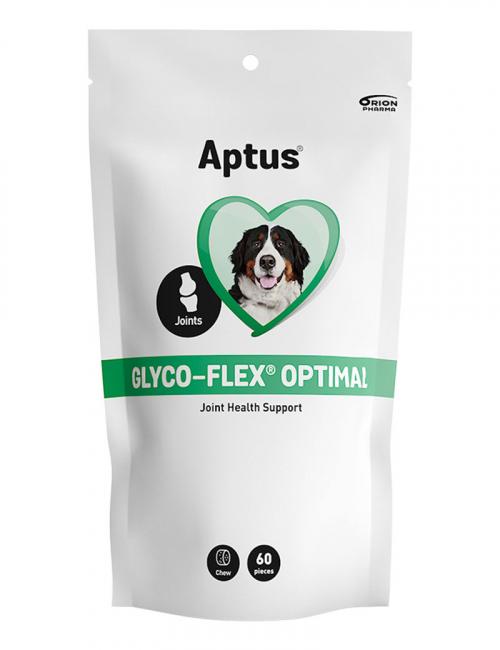 En förpackning Aptus Glyco-Flex Optimal för hundar.