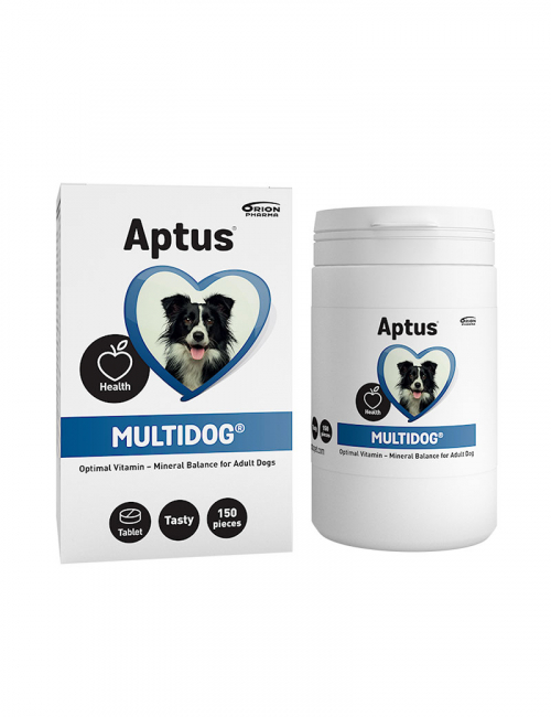 Aptus Multidog. Multivitaminer för vuxna hundar.