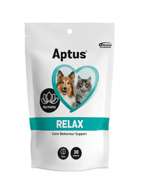 En förpackning Aptus Relax för hund och katt.