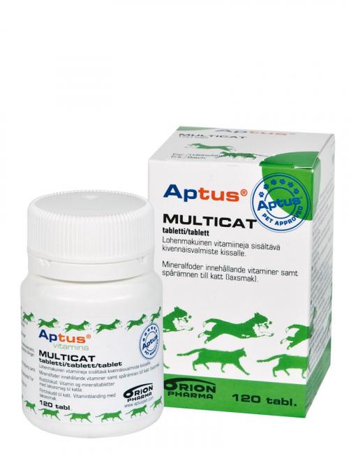 En burk Multicat från Aptus. Kosttillskott för katter.