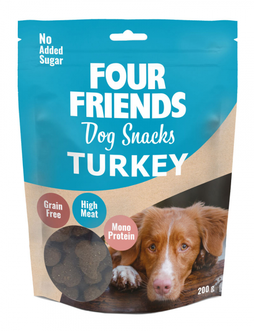 FourFriends hundgodis Dog Snacks Turkey