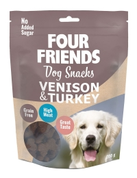 FourFriends hundgodis Dog Snacks Venison & Turkey